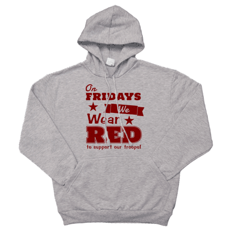 _Hoodie: We Wear Red