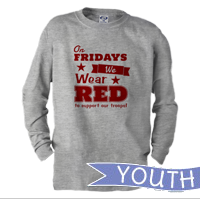 _Youth Long Sleeve Shirt: We Wear Red