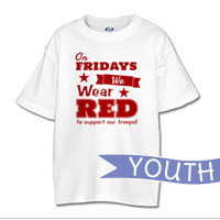 _T-Shirt (Youth): We Wear Red