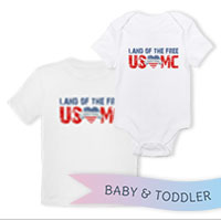 _T-Shirt/Onesie (Toddler/Baby): Land of the Free, USMC