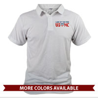 _Polo (Unisex): Land of the Free, USMC