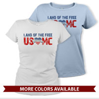 _T-Shirt (Ladies): Land of the Free, USMC