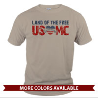 _T-Shirt (Unisex): Land of the Free, USMC