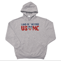 _Hoodie: Land of the Free, USMC