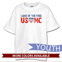 _T-Shirt (Youth): Land of the Free, USMC