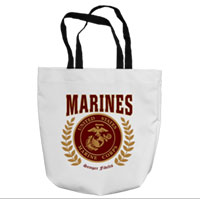 Tote Bag: Red Marines Seal