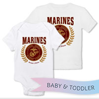 _T-Shirt/Onesie (Toddler/Baby): Red Marines Seal