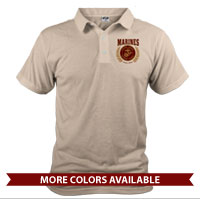 _Polo (Unisex): Red Marines Seal