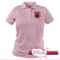 _Polo (Ladies): Red Marines Seal
