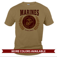 _T-Shirt (Unisex): Red Marines Seal
