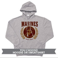 _Hoodie or Sweatshirt: Red Marines Seal
