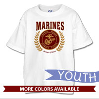 _T-Shirt (Youth): Red Marines Seal