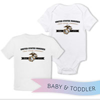 _T-Shirt/Onesie (Toddler/Baby): Honor, Courage, Commitment - Gold