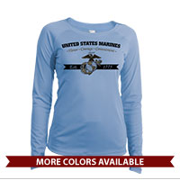 _Long Sleeve Solar Shirt (Ladies): Honor, Courage, Commitment - Gold