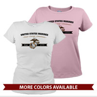 _T-Shirt (Ladies): Honor, Courage, Commitment - Gold