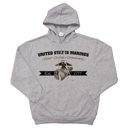 _Sweatshirt or Hoodie: Honor, Courage, Commitment - Gold