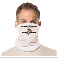 Gaiter Face Covering: Honor, Courage, Committment - Gold