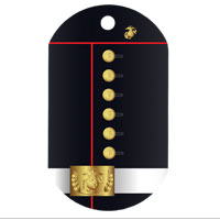 Dog Tag, Single: Dress Blue Uniform