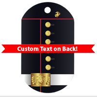 Dog Tag, Single: Dress Blue Uniform (Custom)
