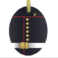 Ornament: Dress Blue Uniform (glass)