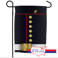 Garden Flag: Dress Blue Uniform