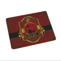 Cutting Board (15x19, glass): Iwo Jima Red & Gold
