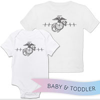 _T-Shirt/Onesie (Toddler/Baby): Heartbeat EGA