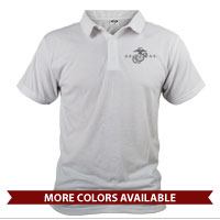 _Polo (Unisex): Heartbeat of a Marine Mom