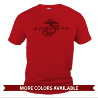 _T-Shirt (Unisex): Heartbeat of a Marine Mom