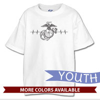 _T-Shirt (Youth): Heartbeat EGA
