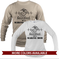 _Long Sleeve Shirt (Unisex): Heartbeat of a Marine ___