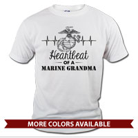 _T-Shirt (Unisex): Heartbeat of a Marine ___