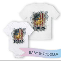 _T-Shirt/Onesie (Toddler/Baby): Corps & Country