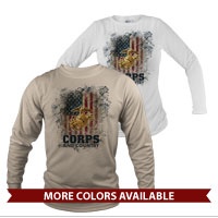 _Long Sleeve Shirt (Unisex): Corps & Country