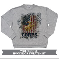 _Sweatshirt or Hoodie: Corps & Country
