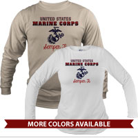 _Long Sleeve Shirt (Unisex): United States Marine Corps