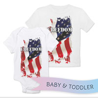 _T-Shirt/Onesie (Toddler/Baby): Freedom