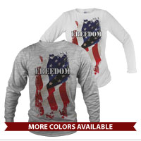 _Long Sleeve Shirt (Unisex): Freedom
