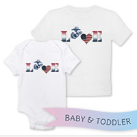 _T-Shirt/Onesie (Toddler/Baby): Patriotic Love