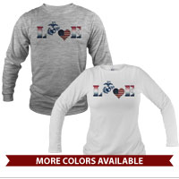 _Long Sleeve Shirt (Unisex): Patriotic Love