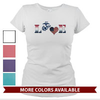 _T-Shirt (Ladies): Patriotic Love