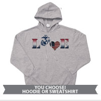 _Hoodie or Sweatshirt: Patriotic Love