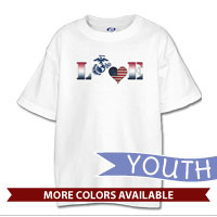 _T-Shirt (Youth): Patriotic Love