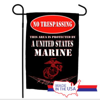 Garden Flag: No Trespassing