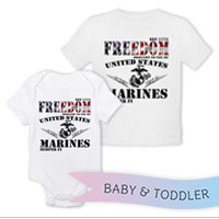 _T-Shirt/Onesie (Toddler/Baby): Freedom, Brought to you by...