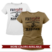 _T-Shirt (Ladies): Freedom, Brought to you by...