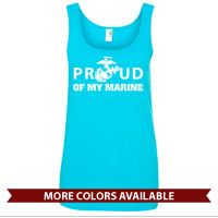_Ladies Tank Top: Proud of My Marine