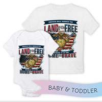 _T-Shirt/Onesie (Toddler/Baby): Home of the Brave