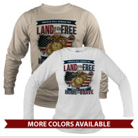 _Long Sleeve Shirt (Unisex): Home of the Brave