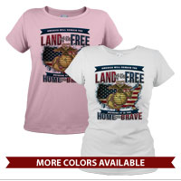 _T-Shirt (Ladies): Home of the Brave
